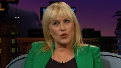 Patricia Arquette on the Late Late Show with James Corden.