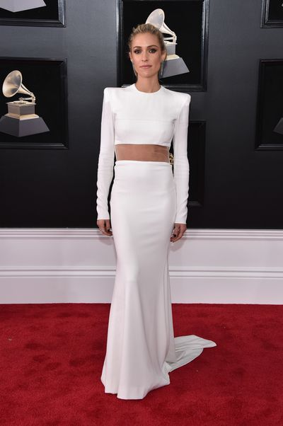 Reality TV star turned fashion designer Kristin Cavallari inAlex Perry Fall 2016