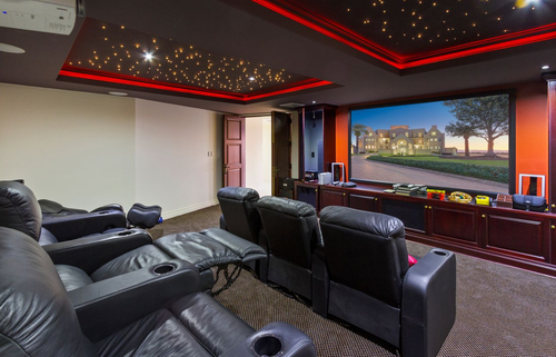 The Gold Coast 'castle' even has its own private theatre among a plethora of other luxuries and conveniences.