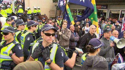 More anti-Islam protests are planned for July. (9NEWS)