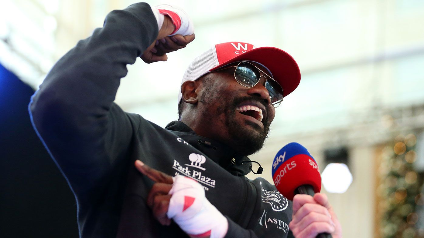 Dereck Chisora wears R-rated shorts to weigh-in for Dillian Whyte rematch