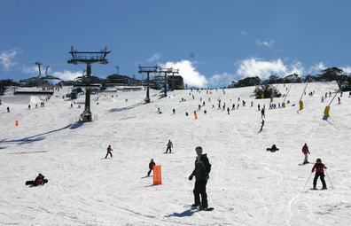 Winter in Perisher ski resort