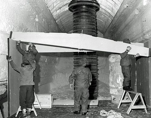 US Army engineers built around 4kms of tunnels before Camp Century was abandoned. (Getty Images).
