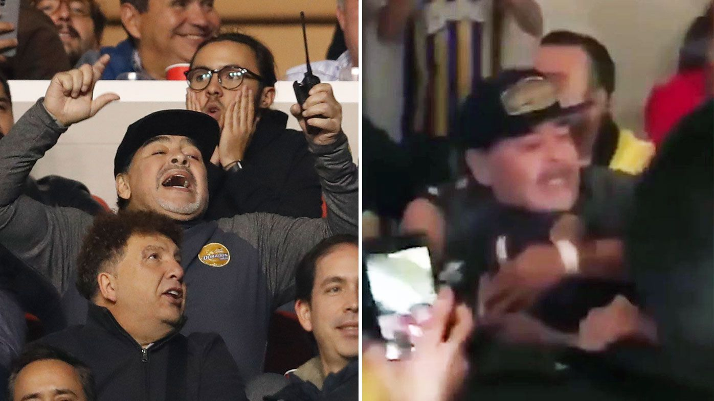 Diego Maradona confronts fans after losing Mexico second-division final