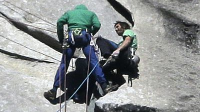 Tommy Caldwell and Kevin Jorgeson are both experienced climbers but many doubted the Dawn Wall route was possible unaided. (AAP)