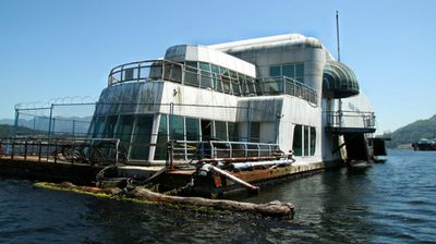 "Eerie images of a floating McDonald's restaurant abandoned 30 years ago in Canada have gone viral amid plans for a secret makeover of the ""McBarge"". (Photo: Flickr)"