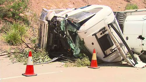 The driver had to be rescued from the wreckage. (9NEWS)