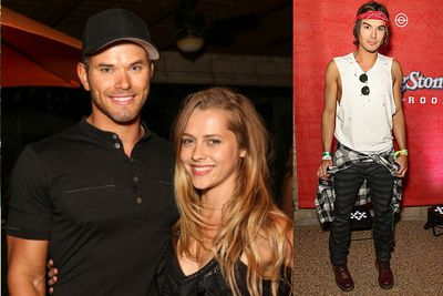 Kellan Lutz and Aussie actress Teresa Palmer were spotted partying together while <i>Pretty Little Liars</i> star Tyler Blackburn was seen partying with Joe Jonas.