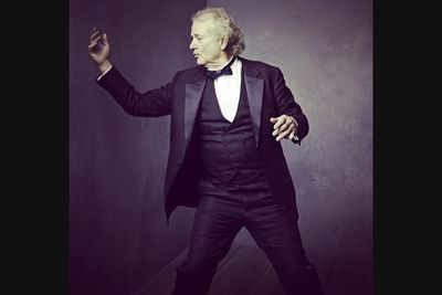 @vanityfair: Bill Murray doing his thing. Photo by @markseliger #vfoscars<br/><br/>