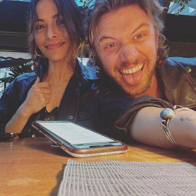 Adam Demos and Sarah Shahi