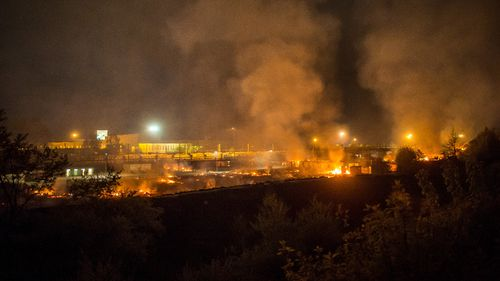 Fire has torn through a French migrant camp. (AFP)