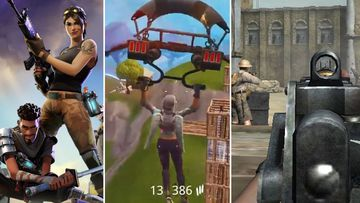Screen shots taken from video games such as Fortnite.