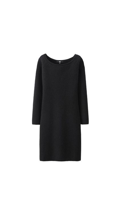 """<a href=""""http://www.uniqlo.com/au/store/women-lambswool-blend-boat-neck-dress-1306980005.html#colorSelect"""" target=""""_blank"""">Dress, $59.90, Uniqlo</a>"""