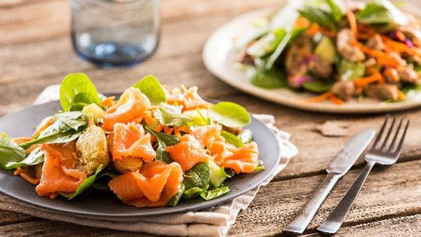 Dietlicious smoked salmon and potato salad