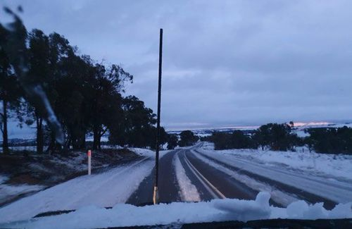 Photos of snow at Wayo, west of Goulburn. Picture: Kath Campbell.