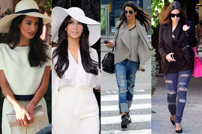 "<br/><br/><br/>Reality TV star Kim Kardashian and human rights lawyer Amal Alamuddin have more in common than their OTT lavish European weddings.<br/><br/>So, TheFIX did some digging and it looks like George Clooney's new wife has been raiding the Kardashian Kollection for her fash-spiration. Check it out...<br/><br/>(<i>Written by <b><a target=""_blank"" href=""https://twitter.com/yazberries"">Yasmin Vought</a></b>. Approved by Carmarlena Murdaca.</i>)<br/><br/>Images: Getty/Splash"