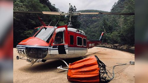 His 1965 UH-1H helicopter was donated to him by a Northern Territory family to help him get back on his feet following the 2005 crash. (9NEWS)