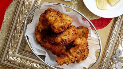 Parmesan fish bites