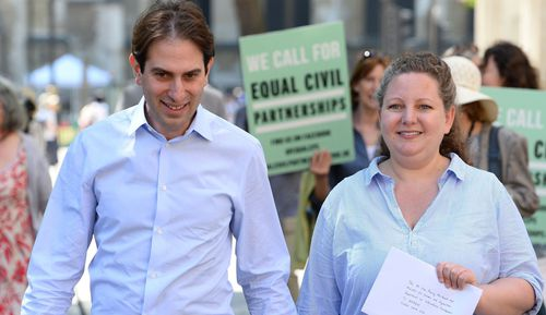 The planned change comes after the Supreme Court, ruled in favour of mixed sex couple Rebecca Steinfeld, 37, and Charles Keidan, 41 who wanted to be allowed a civil partnership like those allowed for gay couples in the UK alongside gay marriage.
