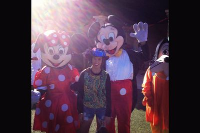 'Chillin' with Mickey and Minnie.'