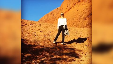 Kaley Cuoco captured holidaying in the Australian outback