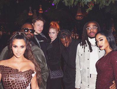 Elon Musk, Grimes, Kardashian Christmas party