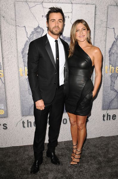 Justin Theroux, Jennifer Aniston, event, red carpet, movie premiere