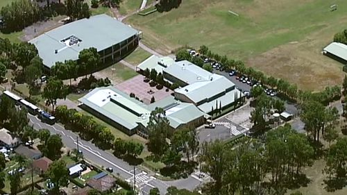 Riverstone Public School has gone into lockdown following the events in the area. (9NEWS)