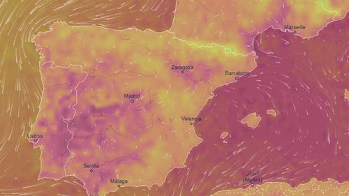 Spain and Portugal are experiencing weather more than 10C above the average for this time of year.