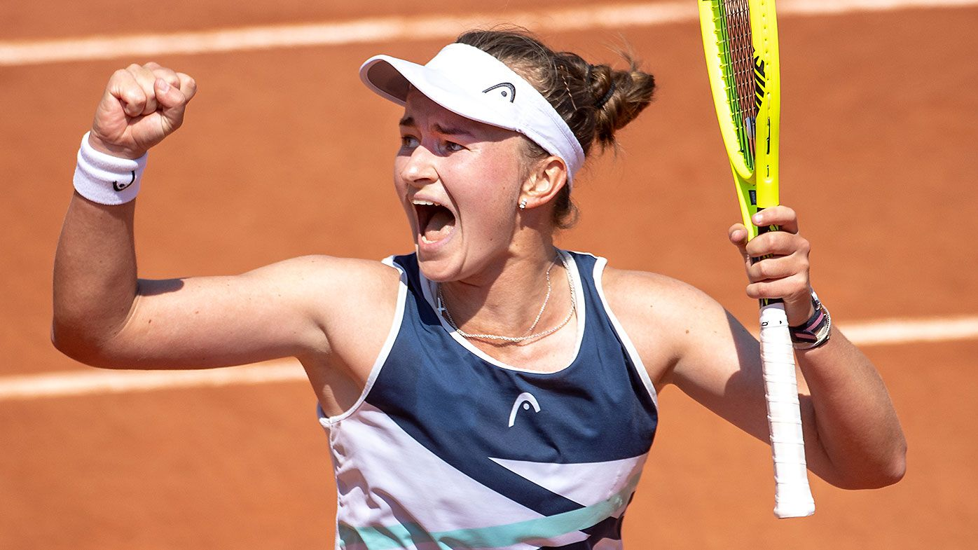 'I was actually crying': Czech star's stunning revelation after booking maiden Grand Slam quarter-final berth