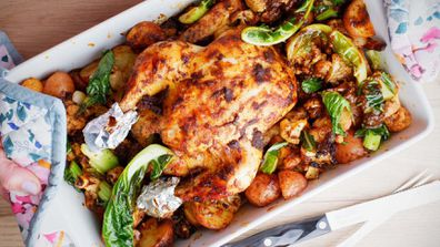 Jane's spice roasted one-pan chicken dinner
