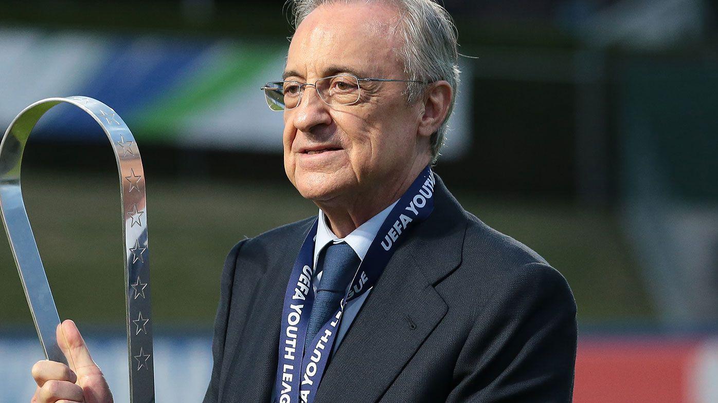 Real Madrid president Florentino Perez insists failed European Super League could still go ahead