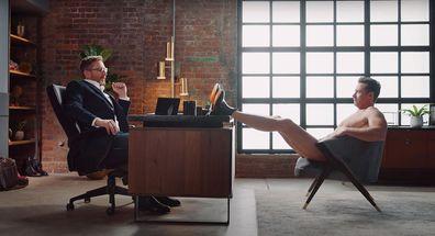 Hugh Jackman, R.M. Williams, commercial, nude