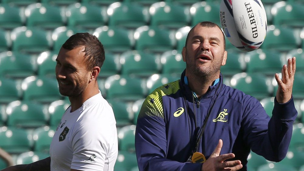 Wallabies coach Michael Cheika continues to stand by Quade Cooper (AAP)