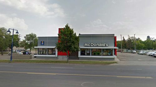 The McDonald's in Canada where Philip Langan wrote his will.