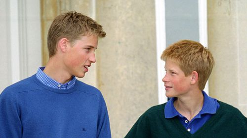 Prince William and Prince Harry at Highgrove, Gloucestershire in 1999. Picture: Getty