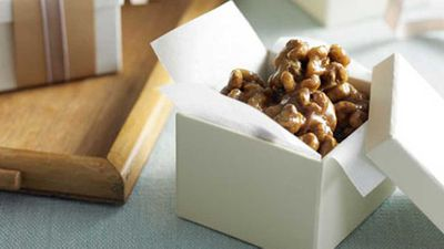 "Click through for our <a href=""http://kitchen.nine.com.au/2016/05/17/11/56/april-walnut-honey-caramels"" target=""_top"">Walnut honey caramels</a> recipe"