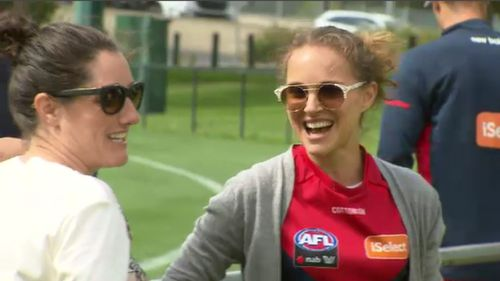 Portman was all smiles at Gosch's Paddock.