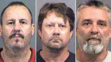 Curtis Allen, Patrick Stein and Gavin Wright are charged with conspiracy to use a weapon of mass destruction and conspiracy against civil rights for allegedly planning to detonate truck bombs in Garden City the day after the November 2016 election. (AAP)