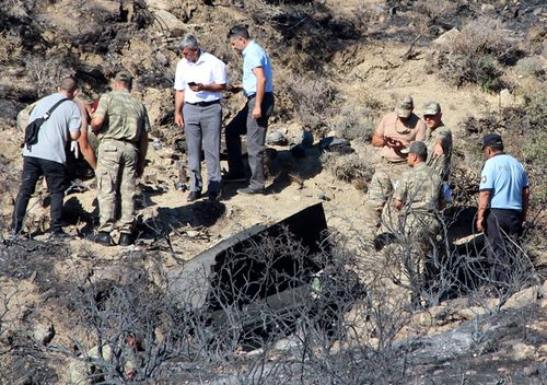 It is believed a Syrian anti-aircraft missile that missed its target landed in North Cyprus. No causalities reported in the incident. The missile is believed to have been launched to intercept alleged Israeli airstrikes.
