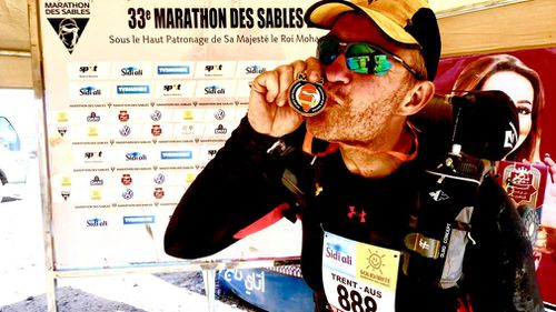 'Marathon Man' Trent Morrow, 45, has completed 343 marathons across all seven continents in the world. Picture: Supplied.