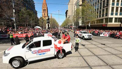 Melbourne put on perfect weather for the 2014 AFL Grand Final parade. (Getty Images)