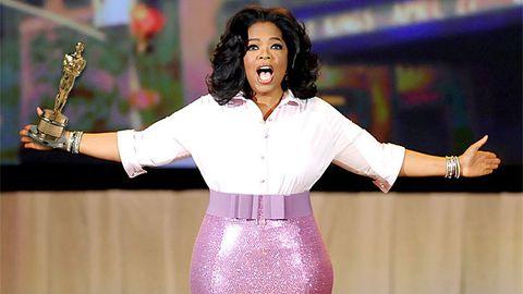 Oprah Winfrey wins an Oscar