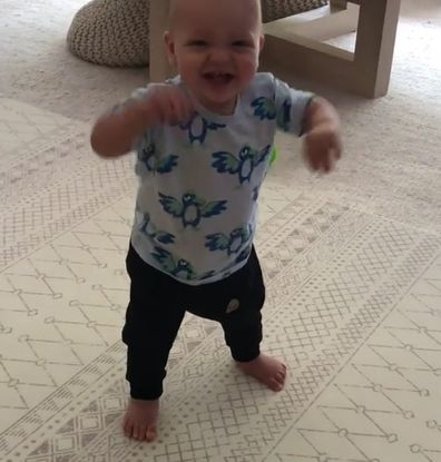 Peter Stefanovic shared adorable moment his son Oscar took his first steps.