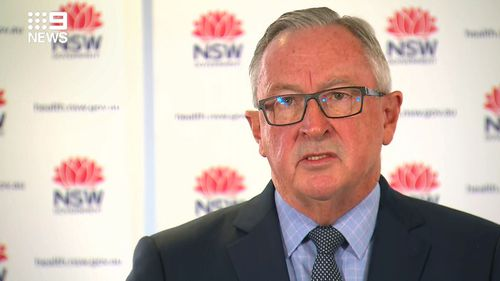 NSW Health Minister Brad Hazzard gives an update on the coronavirus situation in the state on Saturday May 2, 2020.