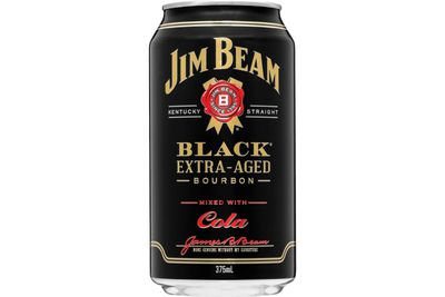 Jim Beam Black Label & Cola (375ml): 1099kj