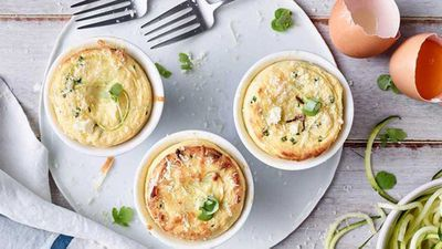 "Recipe:&nbsp;<a href=""http://kitchen.nine.com.au/2017/12/01/16/55/anna-polyvious-cheese-and-zucchini-souffle"" target=""_top"">Anna Polyviou's cheese and zucchini souffle</a>"