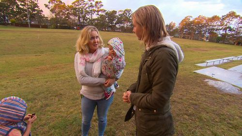 Mother Liz Cooke says she was shocked by how quickly the children left with Brett (9NEWS)