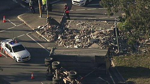 The truck lost its load on the River Road on-ramp to the M5.