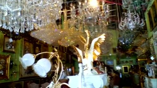 Chandeliers shook on the mainland as the earthquake hit.